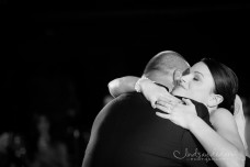 Photography of Megan and her dad during their first dance at wedding at pearl st. grill and brewery in Buffalo NY