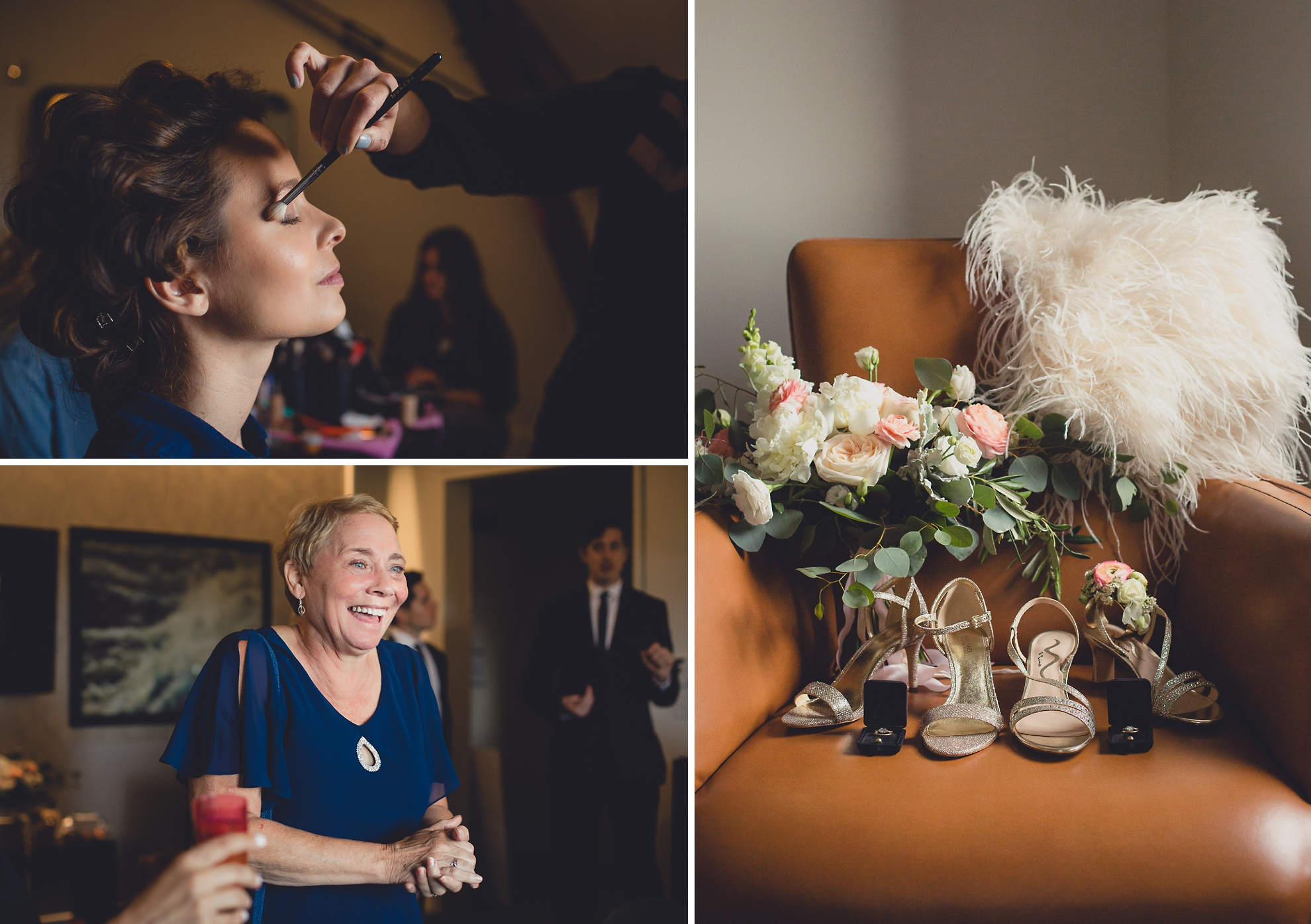 brides get ready for wedding at Hotel Henry in Buffalo, NY